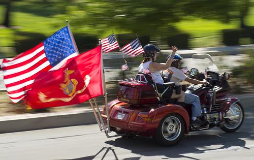 Patriotic riders