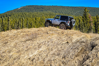 jeep on hill - post with LR