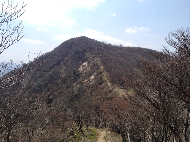 釈迦ヶ岳より猫岳 遠景