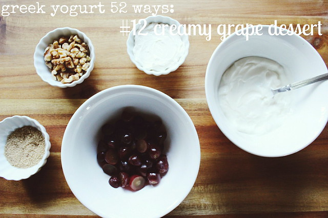 greek yogurt 52 ways: no. 12 creamy grape dessert