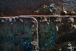 DETAIL ON AN OLD WATER TANK, Topanga State Perk, California