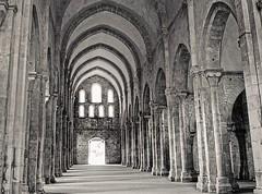 église abbatiale , abbaye de Fontenay / Bourgogne, France