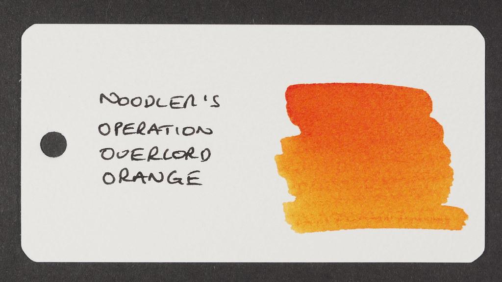 Noodler's Operation Overlord Orange - Word Card