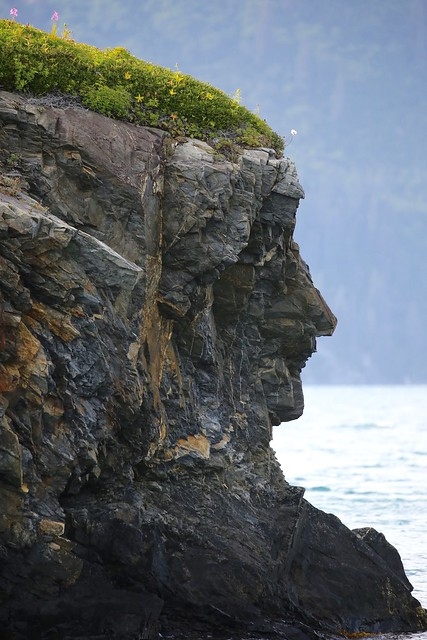 Rock Maiden Portrait Prince William Sound Valdez Alaska USA