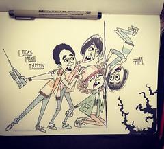 Next up in my #StrangerThings #sketchseries - #Lucas, #Mike, #Dustin & #Will! True fans will get this :) #netflix #upsidedown #fanart #drawmore #artistsoninstagram #moleskine #artistworkout @netflix