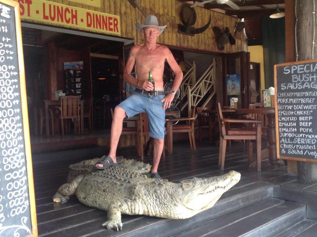 4. Bush Telegraph crocodile and beer via Ellen Booth