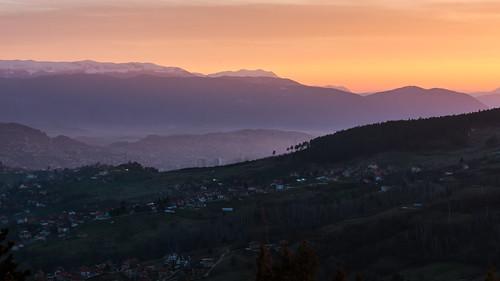 sunset mountain nature sunrise landscape landscapes nikon sarajevo bosnia herzegovina balkans nikkor 70300mm balkan telelens 70300 d610 bosniaandherzegovina bosnieherzégovine telezoomlens