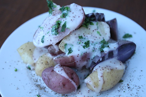 Passover Lemon Poppy Potatoes
