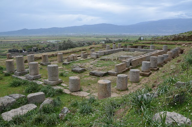 Doric Temple of Zeus Chrysaoreus, built in the 3rd century BC, Alabanda (or  Antiochia of the Chrysaorians), Caria, Turkey