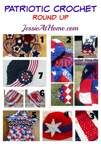 Patriotic Crochet Pattern Round Up from Jessie At Home
