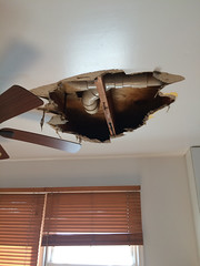 04-05-15 - Giant hole in ceiling