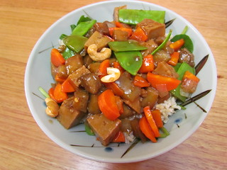 Kung Pao Seitan and Eggplant