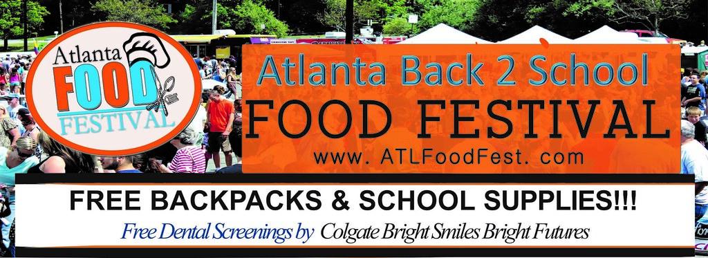 Atlanta Back 2 School Food Festival Flyer