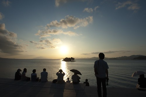 sunset lake island shimane matsue shinji yomegashima