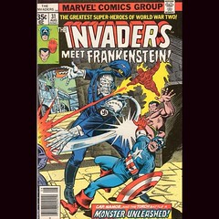 Remember when the Invaders fought Frankenstein's Monster? (neither do I). #comics