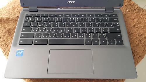 คีย์บอร์ดของ Acer C730 Chromebook 11 มีสกรีนภาษาไทยมาแล้ว