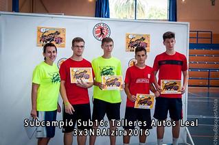 Subcampió Sub 16 3x3NBAlzira 2016