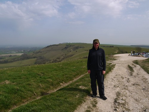 Mappiman at Ditchling Beacon