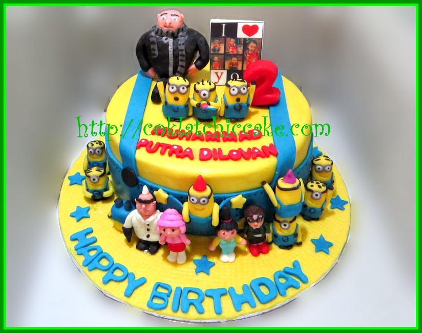 Cake Minion Muhammad Putra Coklatchic Cake
