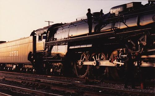 railroad santafe train railway steam passenger baldwin atsf 3751 sbrhs