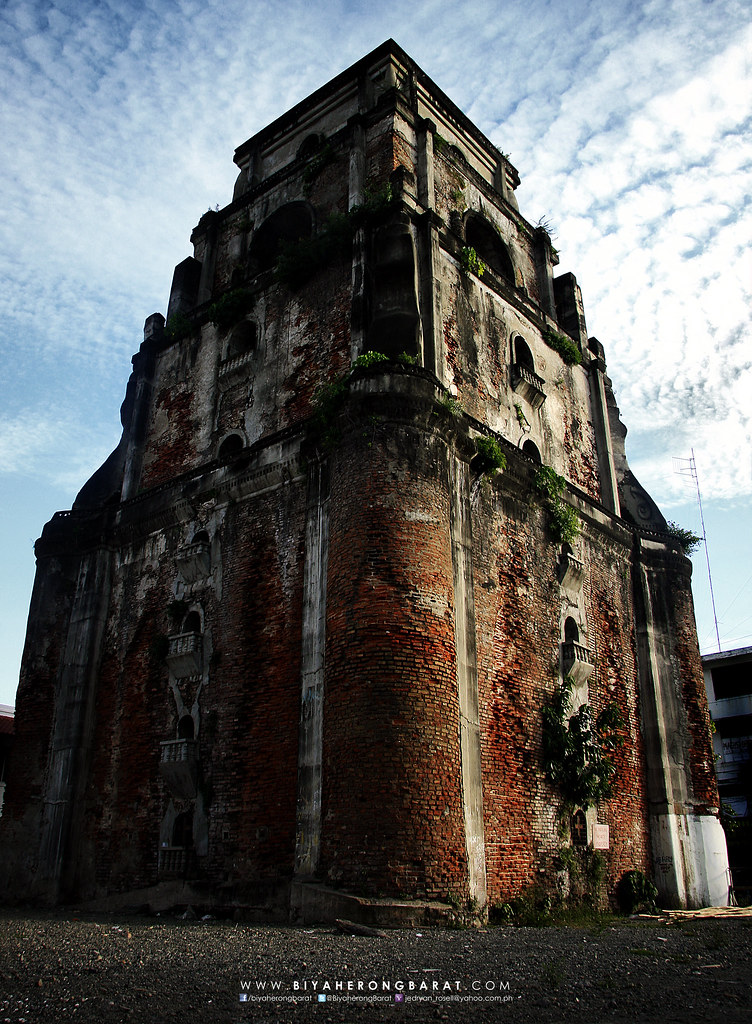 sinking bell tower of laoag ilocos norte