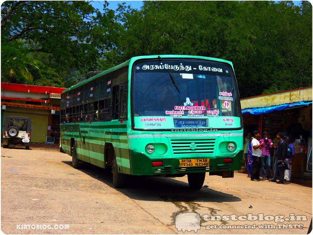 TN-38N-2340 of Ukkadam 1 Depot Route Coimbatore - Munnar via Pollachi, Udumalapet, Maraiyur.