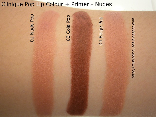 Clinique Pop Lip Colour Primer Swatches Nudes