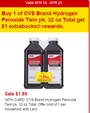 CVS Hydrogen Peroxide Deal