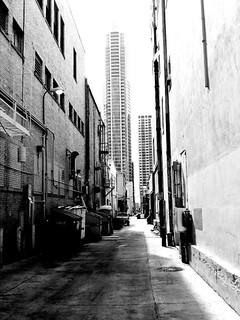 Walking through downtown alleys in Austin, Tx.