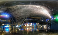 Underside of Atlantis at Kennedy Space Center used the google camera photosphere