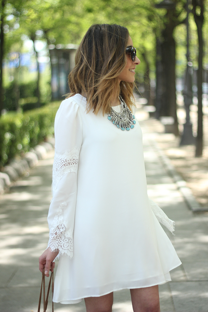 white dress with lace sleeves13