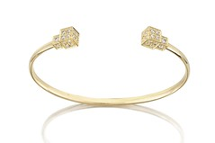 Double Pave' Cube Cuff