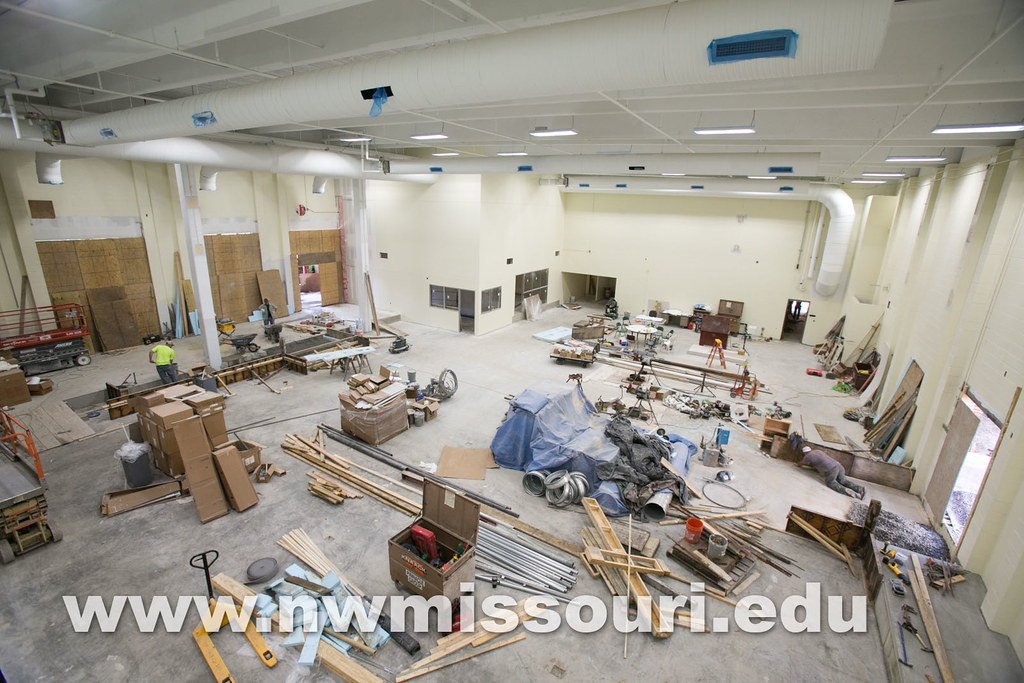 Foster Fitness Center construction