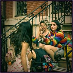Girls talking at East Village