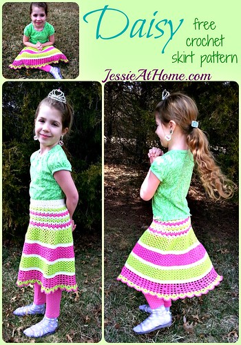 Daisy ~ Free Crochet Skirt Pattern by Jessie At Home