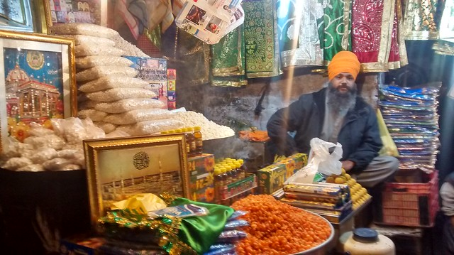 Sardar Son Singh on his shop