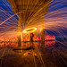 More fun with steel wool and a LED pixel stick under the Scripps Pier by slworking2