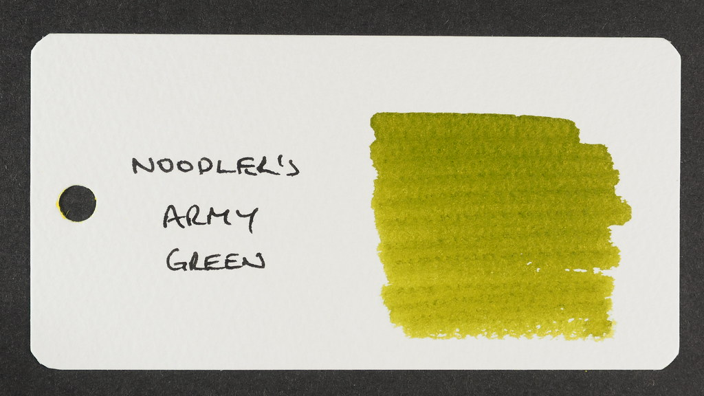 Noodler's Army Green - Word Card