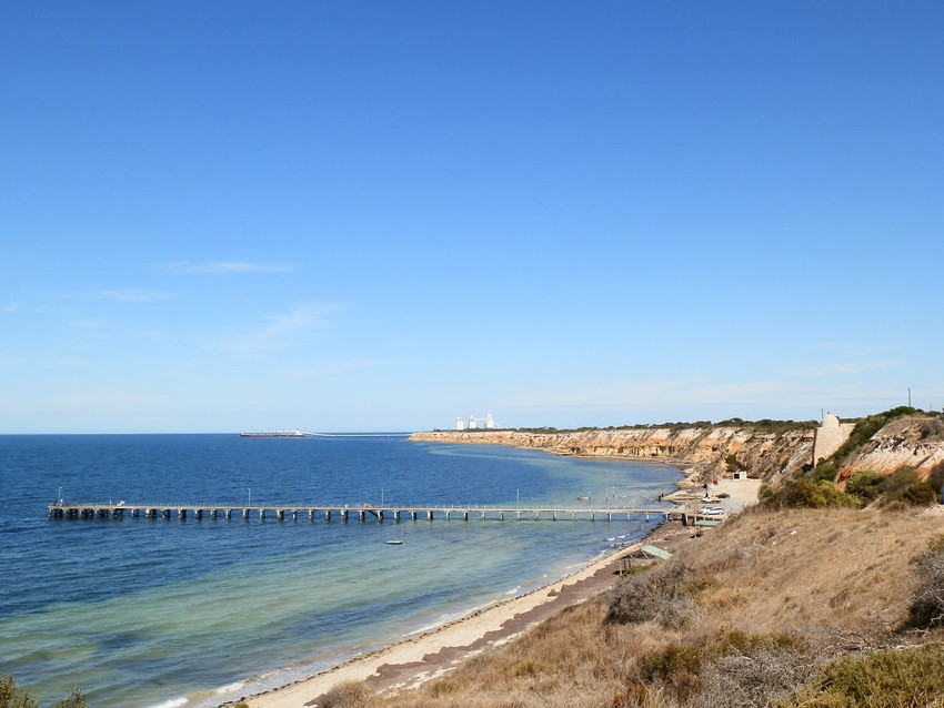 Wool Bay's NEW Loo (on beach past jetty), Yorke Peninsula