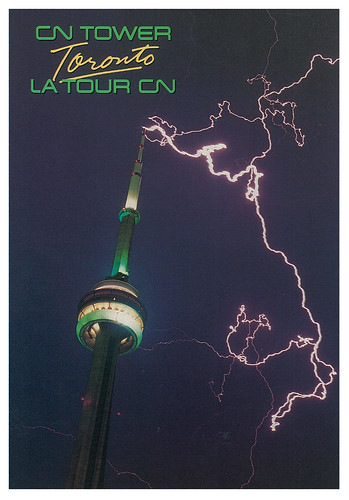 Toronto - CN Tower with lightning