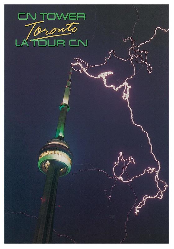 Toronto - CN Tower with lightning