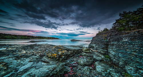 longexposure sunset sea sky seascape nature colors lines norway clouds nikon rocks horizon coastal le weathered coastline afterglow d800 14mm samyang
