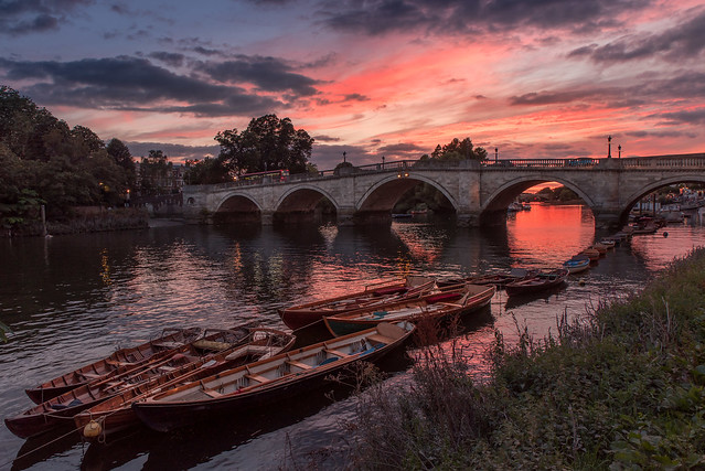 Boats at Sunset on the Thames