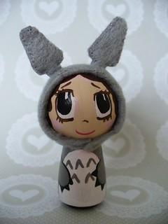 Peg Doll Totoro girl