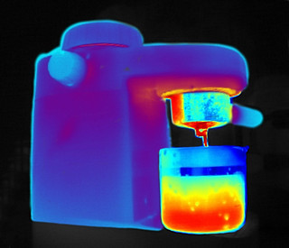 Brewing the coffee - thermal image