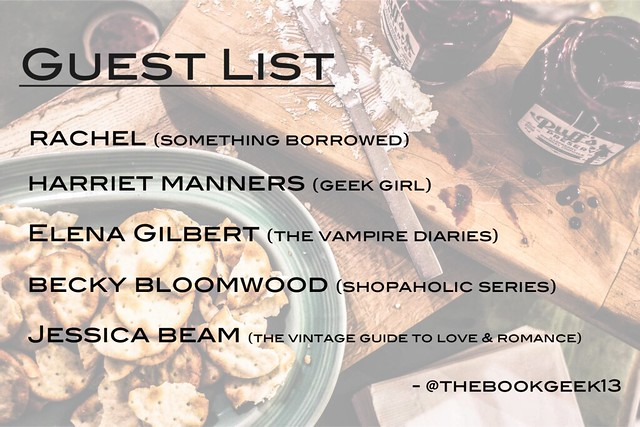 fictional dinner party guest list