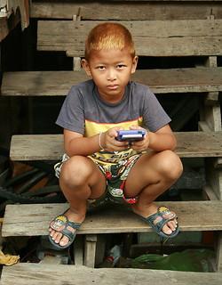 dyed hair boy