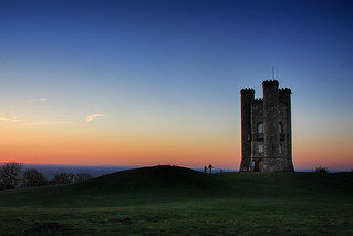 Evening Dog Walkers at Broadway Tower