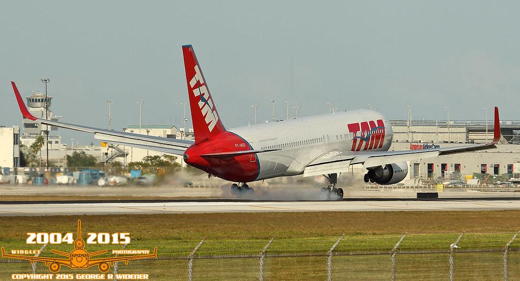 TAM Linhas Aéreas Boeing 767-316ER PT-MSO S/N:41747 L/N:1034   courtesy of Flickr