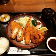 fish(0.0), meal(1.0), tonkatsu(1.0), fried food(1.0), fried prawn(1.0), food(1.0), dish(1.0), cuisine(1.0), tempura(1.0),